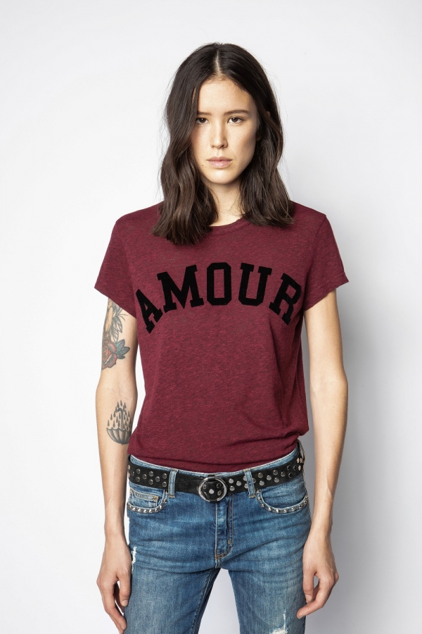 WALK AMOUR CHINE OVERDYED T-SHIRT