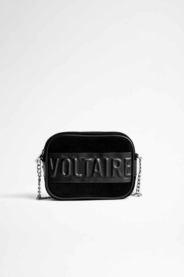 XS BOXY VOLTAIRE SUEDE + BIKER LEATHER BAG